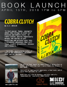 Official Book Launch for Cobra Clutch @ Moody Ales Pub | Port Moody | British Columbia | Canada